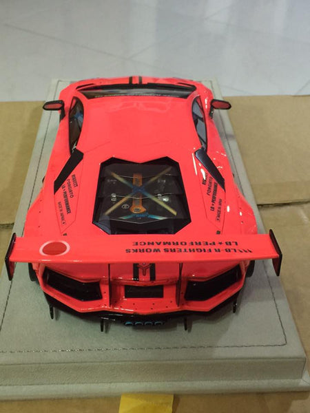 FX Models 1/18 Lamborghini Aventador LP700 LB Performace Wide Body (Pink/Blue)