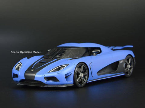 "FrontiArt 1:18 Koenigsegg Agera S (Matte Pearl Blue) ""RHD"" 
