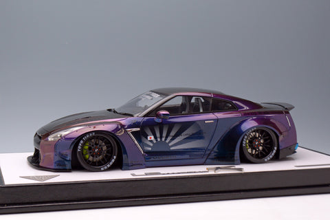 MakeUp 1/18 EML003 Liberty Walk LB WORKS R35 GT-R with Duck Tail spoiler Andromeda Color