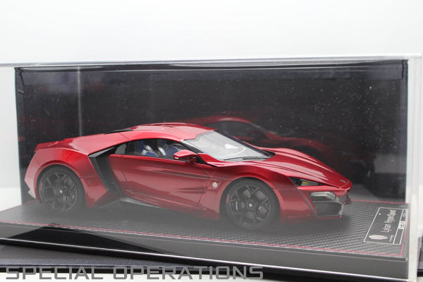 FrontiArt 1:18 W Motors Lykan Hypersport (Transparent Red)