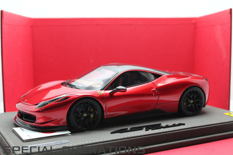 BBR 1:18 Ferrari 458 Italia Oakley Design (Metallic Red)