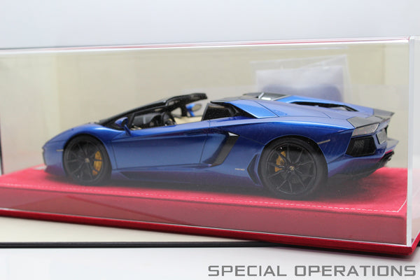 MR Atelier 1:18 Lamborghini Aventador LP700-4 Roadster (Metallic Blue)
