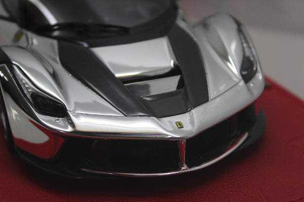 P1867CROME BBR 1:18 Ferrari Laferrari 2013 (Chrome/Carbon)