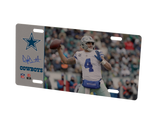 COMBO! Dallas Cowboys Helmet Frame & Dak Prescott Metal Photo