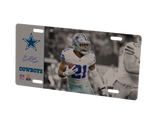 COMBO! Dallas Cowboys Helmet Frame & Ezekiel Elliott Metal Photo 1