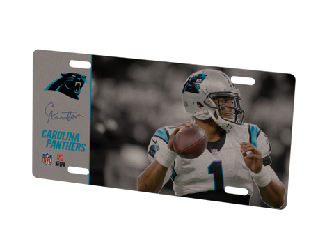 Carolina Panthers Cam Newton Metal Photo