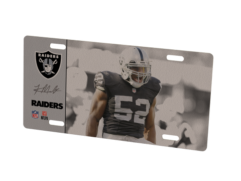 Oakland Raiders Khalil Mack Metal Photo