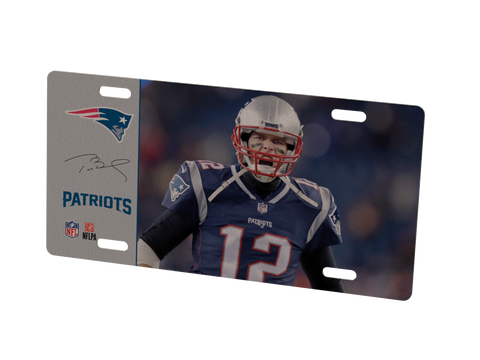 New England Patriots Tom Brady Metal Photo 1