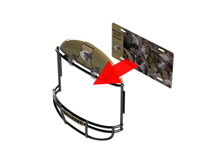 COMBO! Abilene Eagles Football Helmet Frame & Metal Photo
