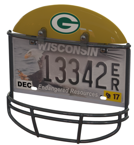 Green Bay Packers Helmet Frame