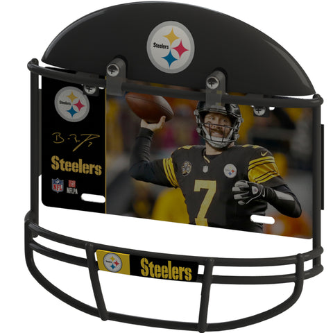 COMBO! Pittsburgh Steelers Helmet Frame & Ben Roethlisberger Metal Photo