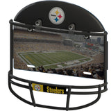 COMBO! - Pittsburgh Steelers Helmet Frame + Metal Stadium Photo