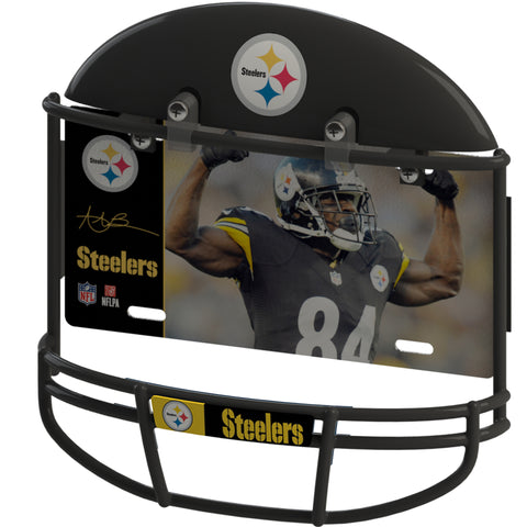COMBO! Pittsburgh Steelers Helmet Frame & Antonio Brown Metal Photo 1
