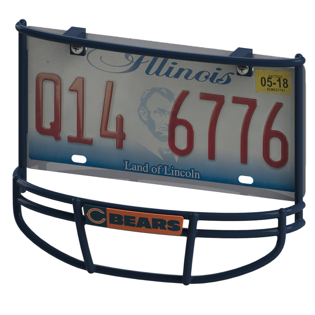 Chicago Bears Facemask License Plate Frame – Frame Your Game