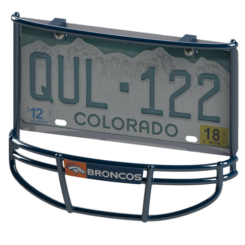 "Denver Broncos ""Horse Logo"" Facemask License Plate Frame"