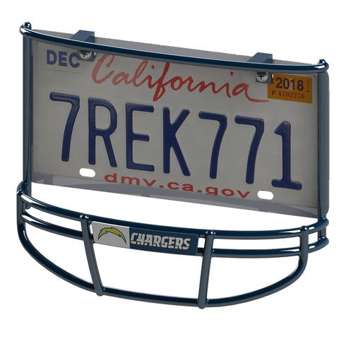 Los Angeles (San Diego) Chargers Facemask License Plate Frame