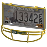 Green Bay Packers Facemask (Yellow) License Plate Frame