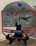 COMBO! New England Patriots Helmet Frame & Rob Gronkowski Metal Photo