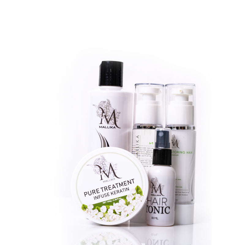 Hair set 5 piece Hair serum & Hair vitamin & hair treatment & hair tonic & hair shampoo