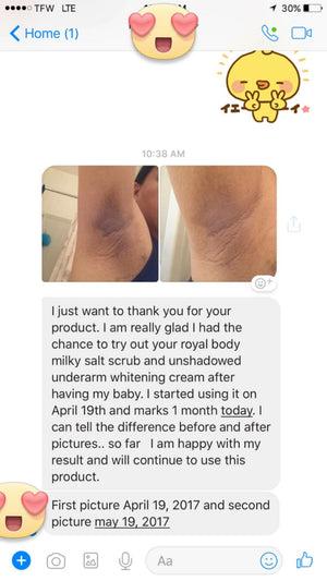 unSHADOWED - underarm whitening cream - 30 g