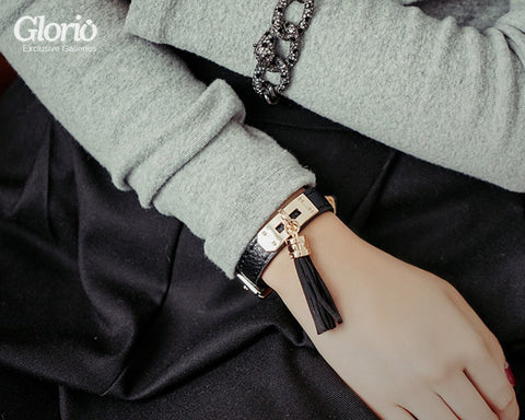 Bracelet - Model: Genuine Leather Bracelet, 2 Round