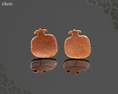 copper earring Pomegranate