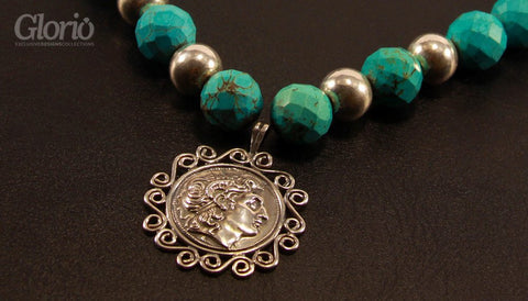 Necklace - The Cyan Charlotte - Handmade Necklace