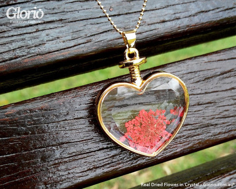 Pendant - Pendant, Real Flower, The Fire Heart