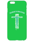 NURSES PRAYER BLUE - PHONE CASE