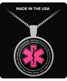 Star Of Life Prayer- Necklace