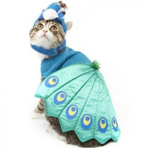 Blue Peacock Pet Costume
