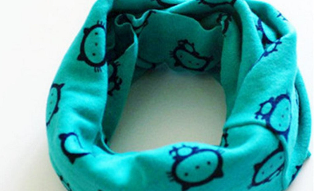 Cat Print Winter Warm Collar Scarf