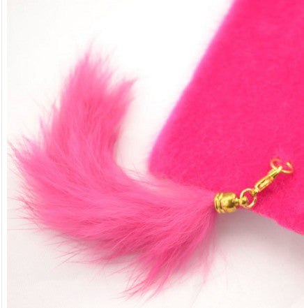 Cat Ear Tail Plush Cover For Samsung Galaxy