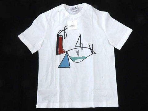 Hermès White (Ultra Rare) Limited Art T-shirt 232893 Tee Shirt