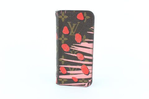 Louis Vuitton Pink Monogram Jungle Dot Palm Iphone 6 Folio Cover Case 7lz1211 Tech Accessory