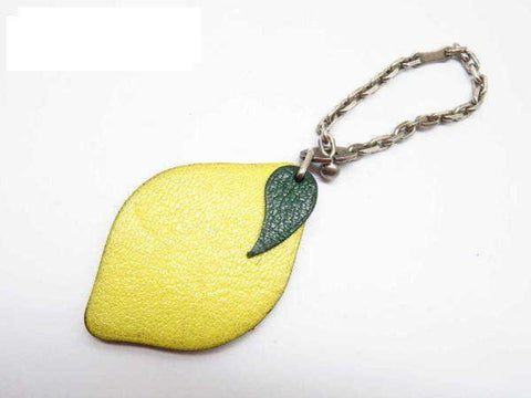 Hermès Yellow Lemon Fruit Charm Pendant 233799