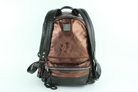 MCM Bronze Copper Tumbler Colorblock 15mcz0130 Brown Leather Backpack