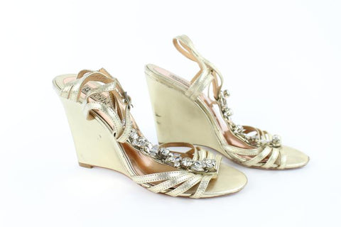 Badgley Mischka Crystal Strappy Wedges 12mz0713