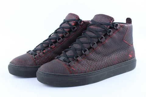 Balenciaga Red Shadow Python Arena 6bat1213 Sneakers