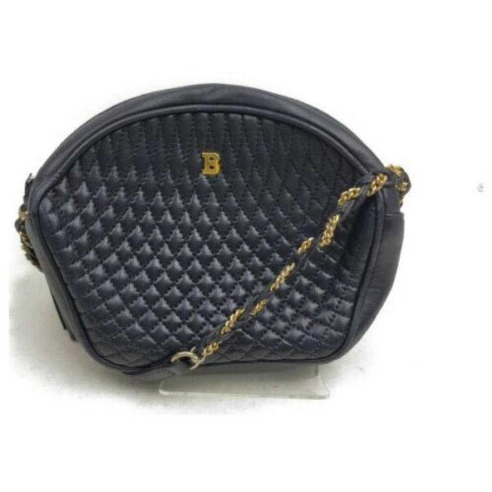 Bally Black Quilted Chail Crossbody 872898