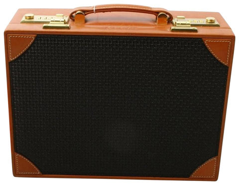 Bally Black x Brown Mini Trunk Hard Case Steamer Attache 860720