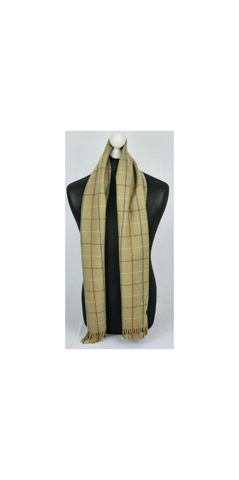 Burberry Khaki Brown Nova Plaid Check Classic Scarf 871891