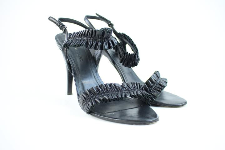 Burberry Leather Strappy Heel 44bura32717 Black Sandals