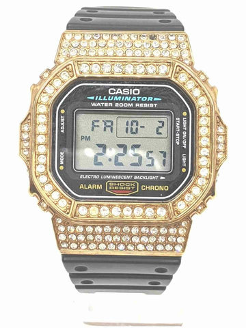 Casio Custom Gold Plated Crystal  DW-5600E G-SHOCK 861265