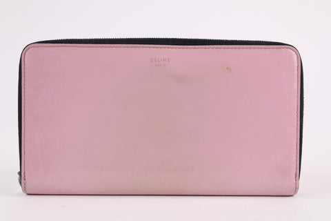 Céline Pink Patent Leather Continental Zip Around Wallet Zippy  L4CEL1221