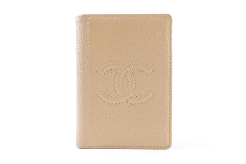 Chanel Beige Caviar Card Holder Wallet case 226858