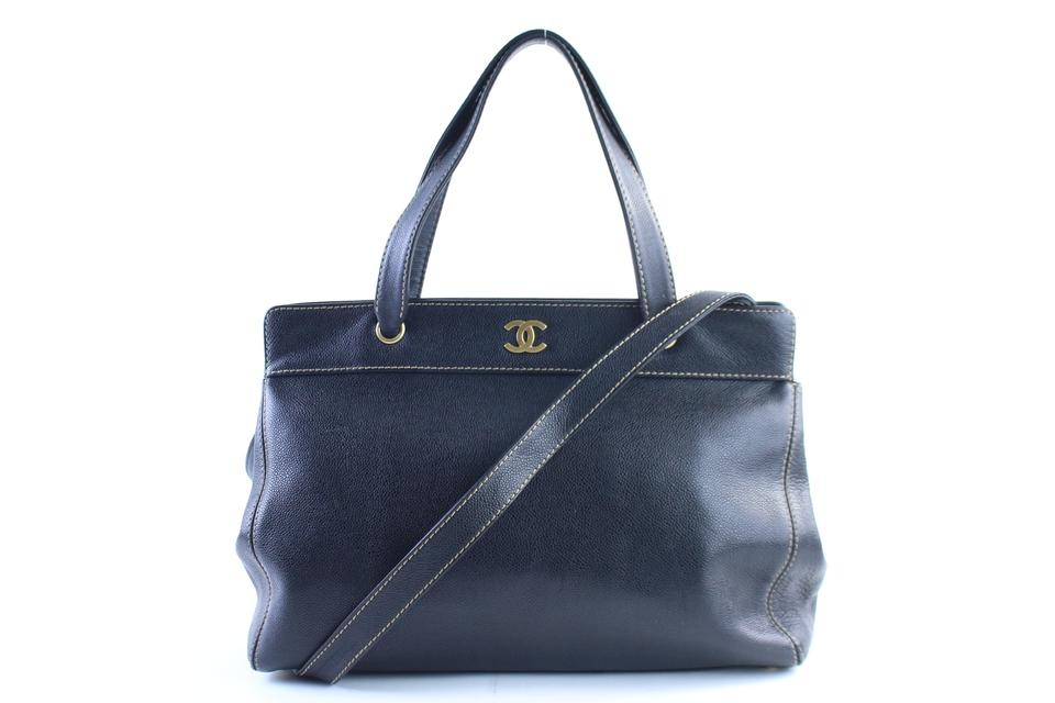 Chanel Caviar Executive Tote Black 2way with Strap 1CR0320