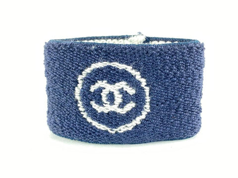 Chanel Ultra Rare Blue CC Logo Wrist Band 7CC124