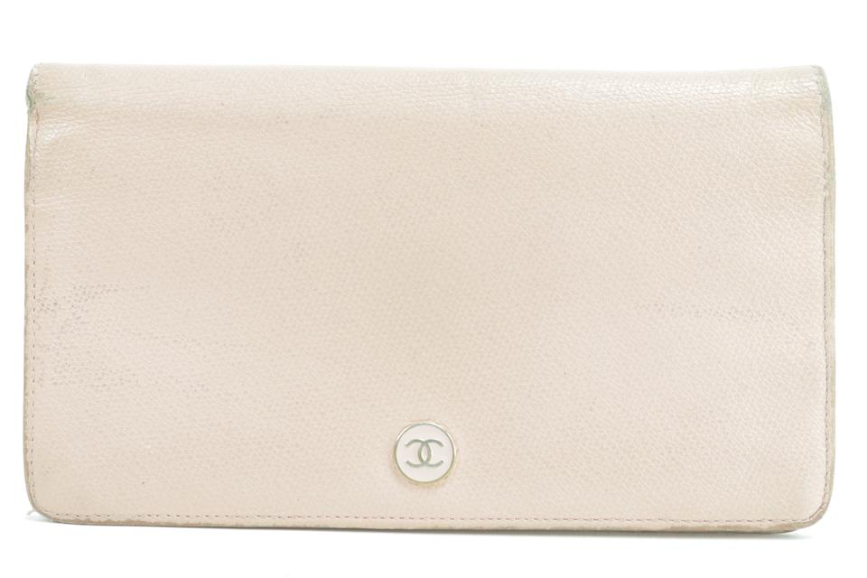 Chanel 4CK0120 Pink Button Line Bifold Long Wallet