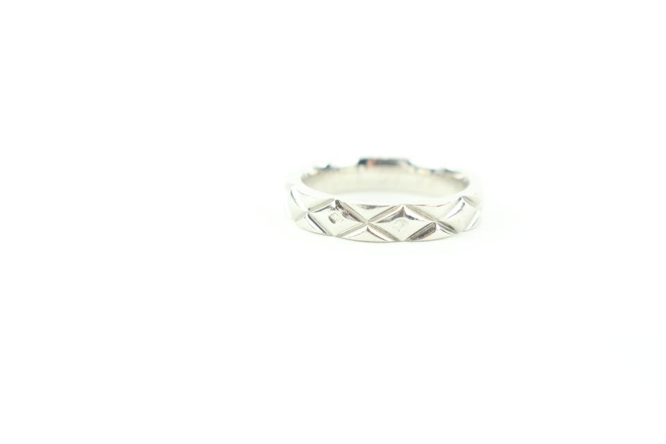 Chanel Size 3.5US PT950 Matelasse Quilted Platinum Ring 606ccs316